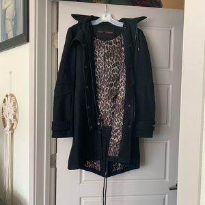 Betsey Johnson Peacoat Size 4 Black